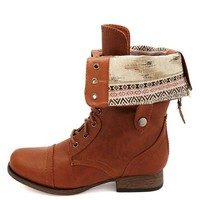 TRIBAL FOLD OVER COMBAT BOOT