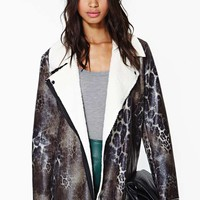 Nasty Gal Unleashed Shearling Coat