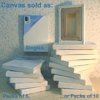 Art Alternatives 10 x 10 inch Pre-Stretched Studio Canvas (Pack of 5 Canvasses)