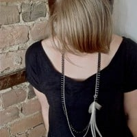 NOEMIAH - Jane - Feather and Chain Necklace
