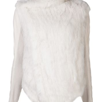 JUNE rabbit fur jacket