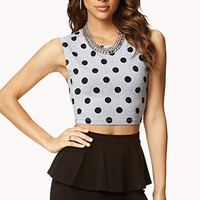Playful Polka Dot Crop Top