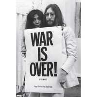 John Lennon and Yoko Ono War is Over Music Poster Print - 24x36 Music Poster Print, 24x36
