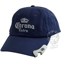 Corona Beer Alcohol Hat - Bottle Opener Navy Blue Baseball Cap