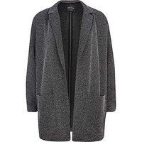 GREY TWEED OVERSIZED BLAZER