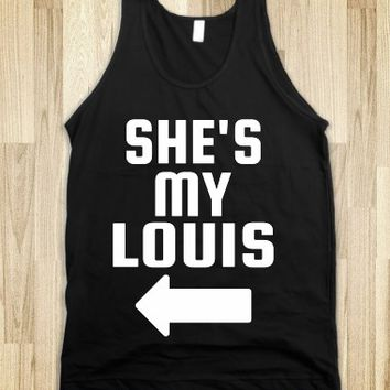 SHE'S MY LOUIS (WHITE) TANKS AND TEES