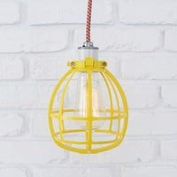 CONSTRUCTION GLOBE LAMP w/ ceramic socket