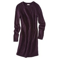Mossimo Supply Co. Juniors Long Sleeve Cable Knit Sweater Dress - Assorted Colors