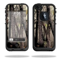 Protective Vinyl Skin Decal Cover for LifeProof iPhone 5 Case 1301 fre Sticker Skins Tree Camo