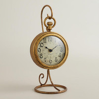 Gold Liana Clock and Stand