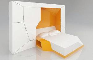 Bedroom in a Box: Hideaway Guest Bed + Storage Spaces | Designs & Ideas on Dornob