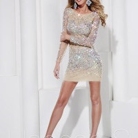 Prom Dresses 2014 - Hannah S 27841 Long Sleeve Jeweled