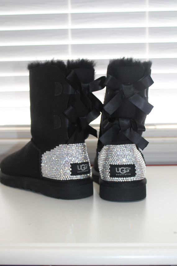 uggs with bows and diamonds