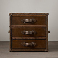 Mayfair Steamer Trunk 3-Drawer Cube
