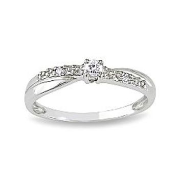 Diamond Accent Promise Ring Sterling