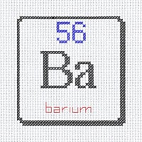 Ba barium 56 chemical element digital cross stitch PDF instant download printable art 6x8