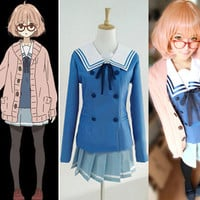 Kuriyama Mirai Character Uniform Custom Cosplay Costume Outfit from Beyond the Boundary