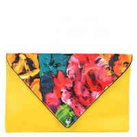Brushed Floral Envelope Clutch | MakeMeChic.com