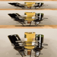 Five Bottle Table Top Wine Rack - The Afternoon