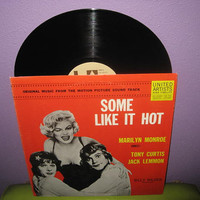 Vinyl Record Album Some Like It Hot Original Soundtrack LP 1959 Marilyn Monroe Classic