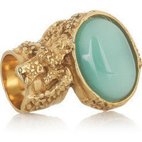 Yves Saint Laurent|Arty gold-plated glass ring|NET-A-PORTER.COM