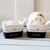 His & Hers Dessert Cups - Set of 2