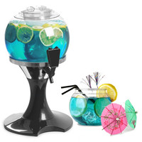 Drinks Orb Beverage Dispenser Fish Bowl Set
