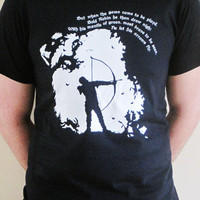 Mens Graphic TShirt Ballad of Robin Hood by thehangingbadger