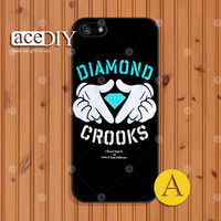 Diamond Crooks, Phone cases, iPhone 5 case, iPhone 5s case, iPhone 4 case, iPhone 4s case, Case for iPhone, Skins, Cover Skin--A50895