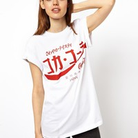 ASOS Boyfriend T-Shirt with Japanese Coca-Cola