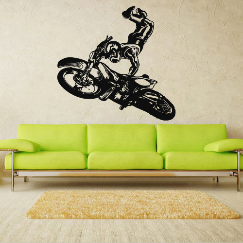 Wall decal art decor decals sticker from decorwalldecals on for Dirt bike wall mural