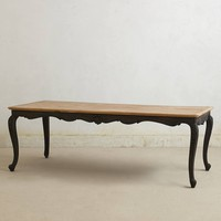 Cabriole Dining Table by Anthropologie Black One Size Furniture