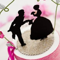 Just for Fun Silhouette Wedding Topper by amadalebel on Etsy