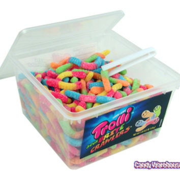 Trolli Brite Crawlers Sour Gummy Worms: 63.5-Ounce Tub