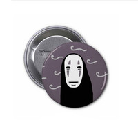 Spirited Away No Face Pinback Button