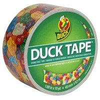 Duck Brand 282495 Gummy Bears Printed Duct Tape, 1.88 Inch by 10 Yards, Single Roll