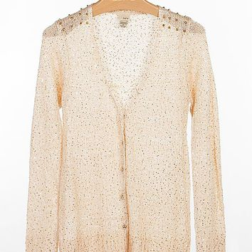 Women's Embellished Cardigan Sweaterin Gold/Cream by Daytrip.