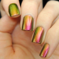 Nostalgia - Multichromatic Christmas Nail Polish - Golds, Greens, Reds, Yellows