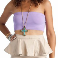 bandeau tank $5.00 in BLACK CORAL LAVENDER NEONGREEN NEONORANGE NEONPINK NEONYELLOW ROYAL TAUPE WHITE - New Tops | GoJane.com