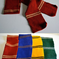Gryffindor Scarf - Crochet - Inspired from Harry Potter