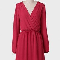 Bridgette Surplice Chiffon Dress