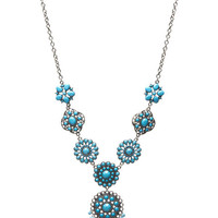 Cabstone Multi-Pendant Necklace | Wet Seal