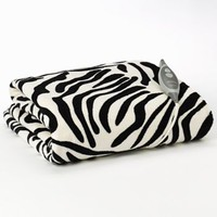 Slumber Rest Zebra Microplush Electric Throw