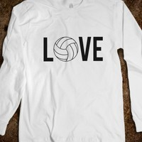 Skreened Love Volleyball LS Tee Black