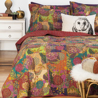 ModCloth Boho Dream Tree House Quilt Set in Full, Queen