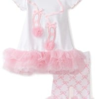 Mud Pie Baby-Girls Newborn Tiny Dancer Ballet Shoe Tunic And Capri Leggings