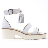 WINDSOR SMITH Chunk White Leather