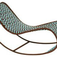 bayekou rocking chaise by moroso m'afrique in sky/brown - ABC Carpet & Home