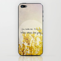 You Make Me Happy When Skies Are Gray iPhone & iPod Skin by Olivia Joy StClaire