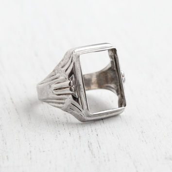 vintage sterling silver deco ring from maejean vintage